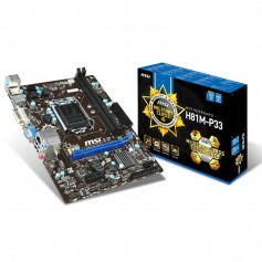 MOTHER MSI H81M-P33 SOCKET 1150 INTEL DDR3 DVI USB 3.0 VGA