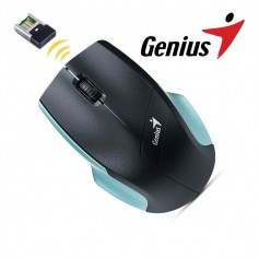 MOUSE GENIUS NS-6015 INALAMBRICO COLOR NEGRO Y CELESTE
