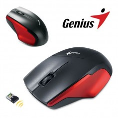 MOUSE GENIUS NS-6015 INALAMBRICO COLOR NEGRO Y ROJO