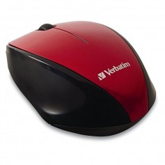 MOUSE VERBATIM GO NANO INALAMBRICO COLOR ROJO