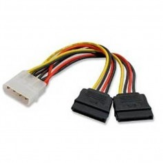 CABLE POWER SATA MOLEX a 2 SATA 0,2 MTS