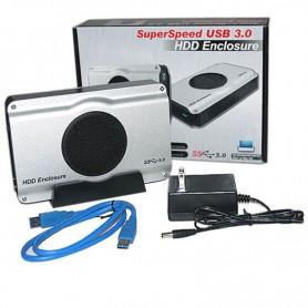 CARRY CAJA DISCO RIGIDO 3.5 SATA CON FUENTE USB 3.0 COOLER WLX-393U3