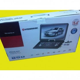 "REPRODUCTOR DVD PORTATIL 15,6"" VISIONNER PDVS-427 USB /SD/TV/RADIO FM/JUEGOS"
