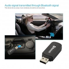 RECEPTOR AUDIO BLUETOOTH USB CABLE PIN AUXILIAR ADAPTADOR 3.5 PLUG YET-M1