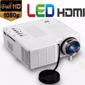 "MINI PROYECTOR LED 80"" UC28 1080P HDMI USB AV SD VGA CONTROL REMOTO"