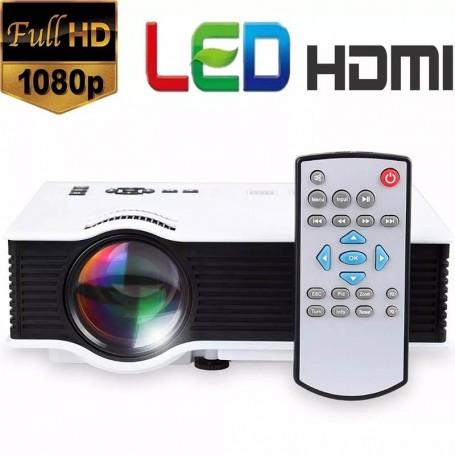 PROYECTOR LED 120 UC40 1080P 800 LUMENES HDMI USB SD VGA CONTROL REMOTO
