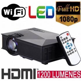 PROYECTOR LED 130 UC46 WIFI 1080P 1200 LUMENES HDMI USB SD VGA CONTROL REMOTO