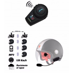 INTERCOMUNICADOR BLUETOOTH KIT MANOS LIBRES CASCO MOTO X2 FDC-VB