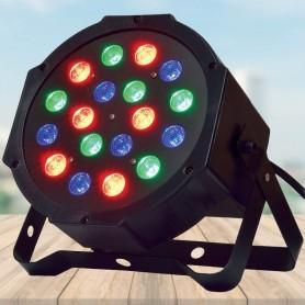 LUZ PROTON PAR 18 LED ALTA RGB AUDIORRITMICO CON DMX DJ P-18