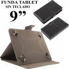 FUNDA TABLET 9 PULGADAS SIN TECLADO CUERO NEGRO