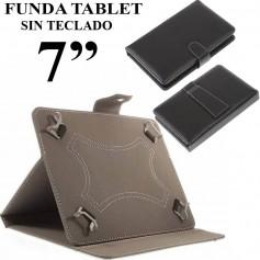 FUNDA TABLET 7 PULGADAS SIN TECLADO CUERO NEGRO