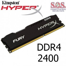 MEMORIA DDR4 4Gb 2400 MHz KINGSTON HyperX Fury BLACK HX424C15FB2/4