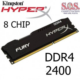 MEMORIA DDR4 4Gb 2400 MHz KINGSTON HYPERX FURY BLACK HX424C15FB/4 8 chip