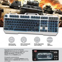 Teclado Gamer Retroiluminado Kolke Gaming Silver Kgt-095 Usb