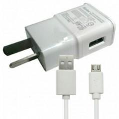 CARGADOR CELULAR KOLKE 2A CON CABLE MICRO USB BLANCO