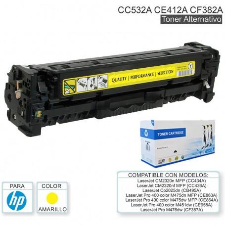 Toner Alternativo Hp 305A Ce412A Ce412 Amarillo Pro 400 Color M451Dn M451Dw M451Nw M475Dw M475Dn Laserjet 300 Color Mfp M375Nw