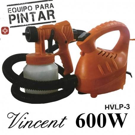 Equipo Para Pintar Con Pistola 600W Hvlp-3 Vicent Sixelectric