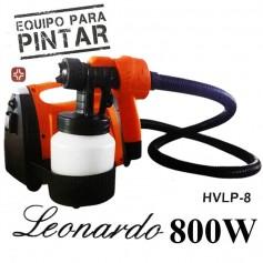 EQUIPO PARA PINTAR CON PISTOLA 800W HVLP-8 LEONARDO SIXELECTRIC