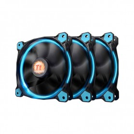 COOLER RIING 12 THERMALTAKE 120MM LED AZUL PACK X3 120X120X25