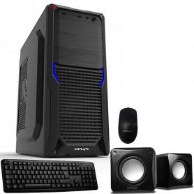GABINETE PC KELYX KIT 725-09 CON FUENTE 600W + TECLADO + MOUSE + PARLANTES + LECTOR TARJETAS