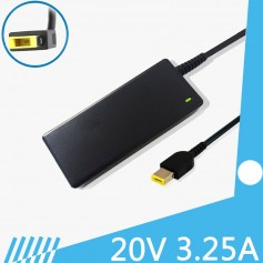 CARGADOR ULTRABOOK LENOVO 20V 3.25A 65W SQUARE TIP 11 X 4mm ALTERNATIVO