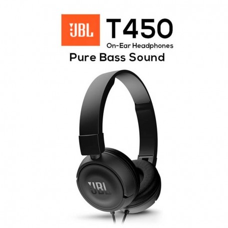 AURICULARES JBL T450 PURE BASS NEGRO