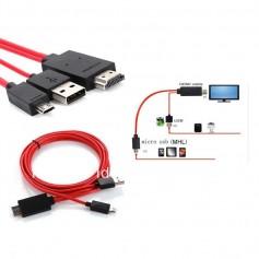 ADAPTADOR MICRO USB A HDMI H MHL SAMSUNG GALAXY PIN TIPO A