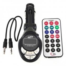 TRANSMISOR FM MP-608 PARA AUTO MP3 MICROSD USB CON REMOTO