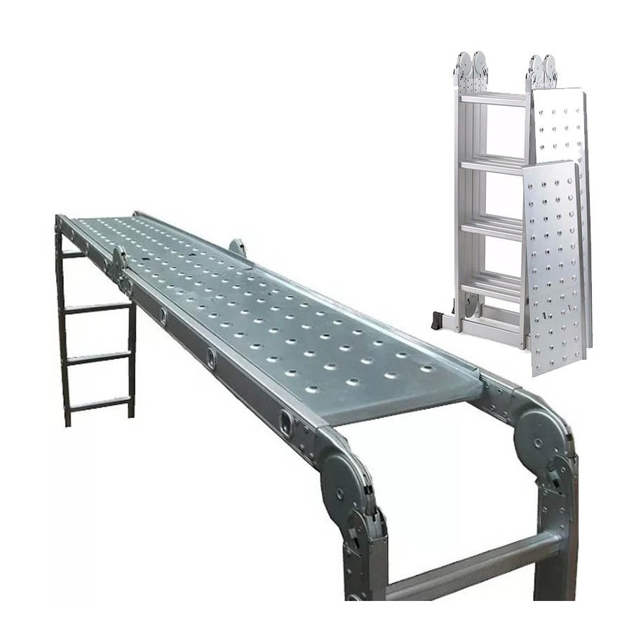 Con Escalera Andamio 7mts Multiproposito Aluminio 4 Articulada Plegable 4x4 Chapones Accesorios rCBdxoe