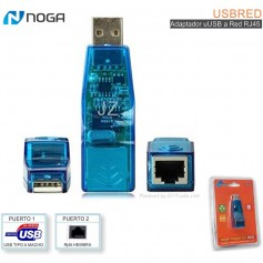 ADAPTADOR DE RED RJ45 A USB 10/100 NOGA