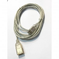 CABLE ALARGUE USB 2.0 3 Mts MANHATTAN MALLADO TRANSPARENTE