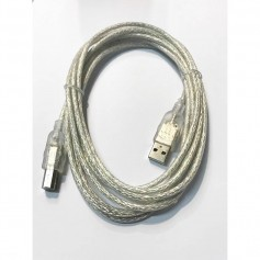 CABLE IMPRESORA USB 3 Mts MANHATTAN MALLADO TRANSPARENTE