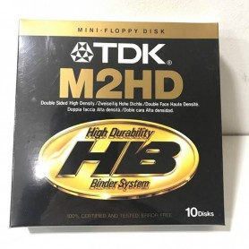 "DISKETTES 5 1/4 5.25"" M2HD TDK CAJA X 10 UNIDADES"