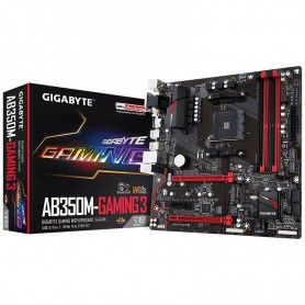 MOTHER GIGABYTE GA-AB350M GAMING 3 SOCKET AM4 DDR4 USB 3.1 VGA DVI HDMI