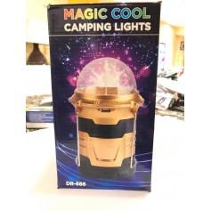 LAMPARA FAROL LUZ LED CAMPING RETRACTIL CON BOLA DE LED RGB DR-666