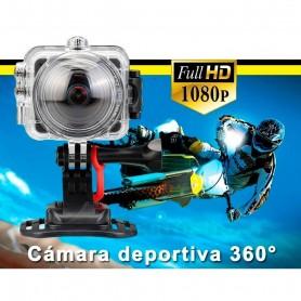 CAMARA DEPORTIVA 360 KELYX KL360 FULLHD WIFI SUMERGIBLE 30M 8MP 1080P