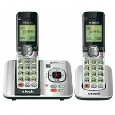 TELEFONO INALAMBRICO VTECH Cs6529-2 DOBLE SILVER IDENTIFICADOR LLAMADAS LLAMADA ESPERA DECT 6.0