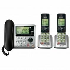 TELEFONO INALAMBRICO VTECH CSR6649-2 DOBLE SILVER CONTESTADOR AUTOMATICO LLAMADA ESPERA IDENTIFICADOR DECT 6.0