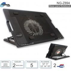 BASE COOLER PARA NOTEBOOK NOGA NG-Z894 LED 13 A 17