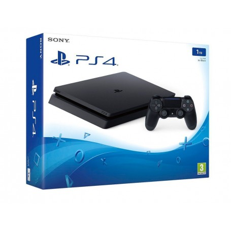 PLAYSTATION 4 PS4 SLIM CONSOLA 1TB TERA + JOYSTICK ORIGINAL SONY