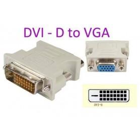 ADAPTADOR DVI-D MACHO 24+1 DUAL LINK A VGA HEMBRA
