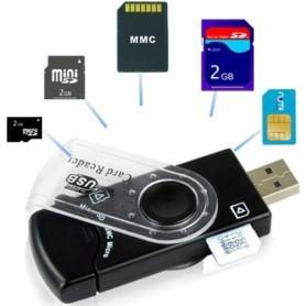 LECTOR DE TARJETAS DE MEMORIA USB LEE SD MICRO SD M2 Y MEMORY STICK