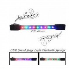 BARRA DE LUCES CON 9 LED RGB AUDIORRITMICOS ALTA LUMINOSIDAD PARLANTE BLUETOOTH USB MP3