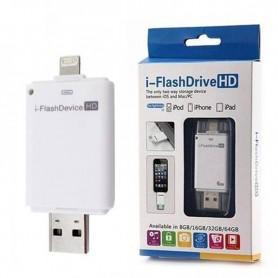 PEN DRIVE ADATA 8GB DUAL PARA IPHONE LIGHTNING Y USB