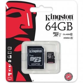 MEMORIA MICRO SD 64GB KINGSTON CLASE 10 45MB/S XC I