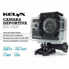 CAMARA DE DEPORTES KELYX KL102 HD 720 SUMERGIBLE 30MT CON ACCESORIOS