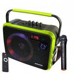 PARLANTE MULTIMEDIA PANACOM SP-3070WM CON BATERIA BLUETOOTH MICROFONO INALAMBRICO 20W T70WM