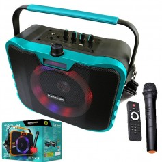 PARLANTE MULTIMEDIA PANACOM SP-3080WM CON BATERIA BLUETOOTH MICROFONO INALAMBRICO 20W T80WM