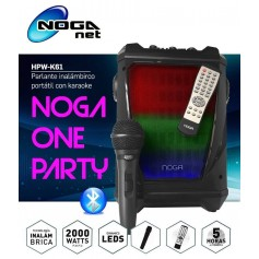 PARLANTE MULTIMEDIA NOGA HPW-K61 BLUETOOTH MICROSD USB RADIO FM ONE PARTY