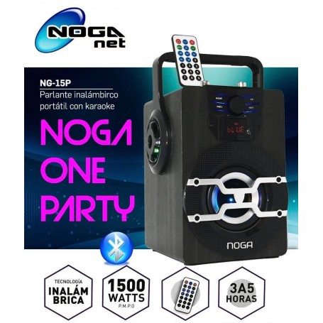 PARLANTE MULTIMEDIA NOGA NG-15P BLUETOOTH MICROSD USB RADIO FM ONE PARTY